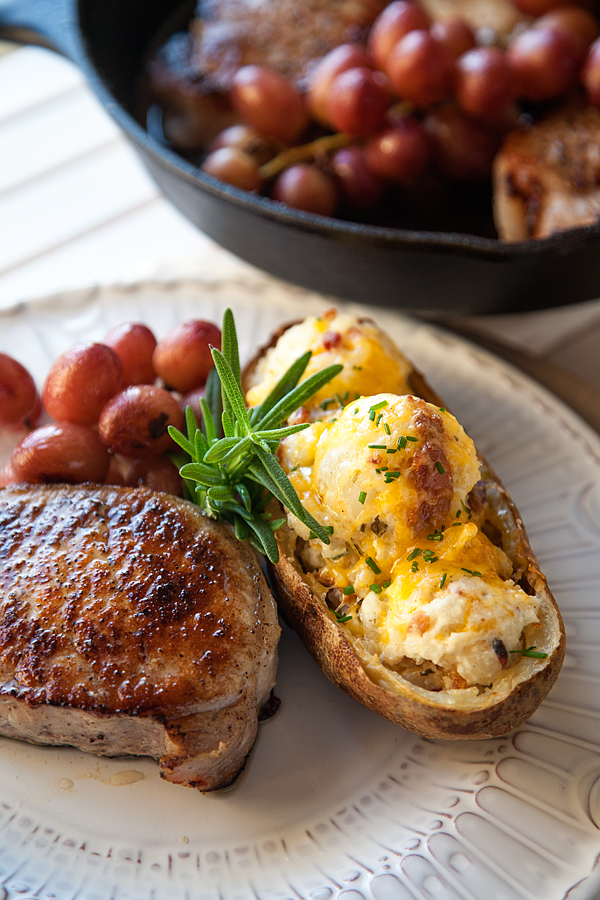 Roasted-Pork-Chop-with-Grapes-and-Twice-Baked-Potatoes-8