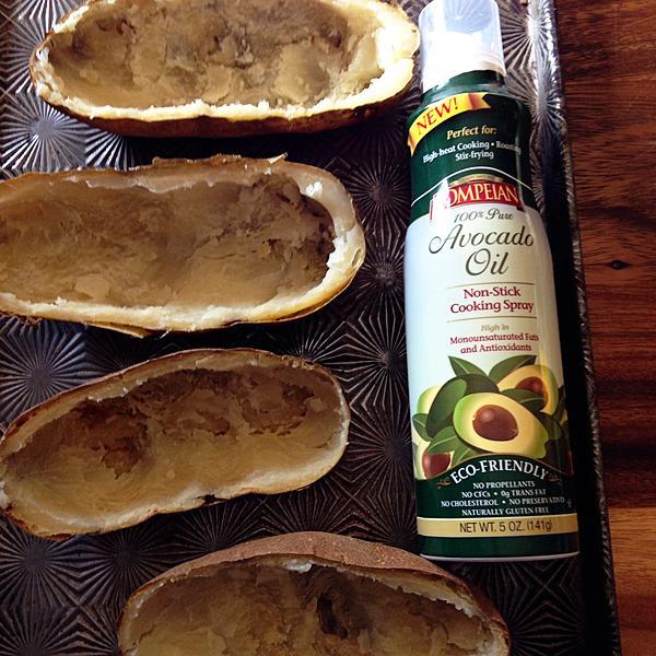 spray-potato-skins-with-Pompeian-Avocado-Oil