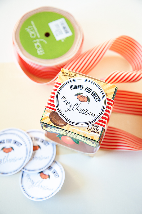 Orange you Sweet Printable Christmas Gift Tags + Trader Joe's Christmas +