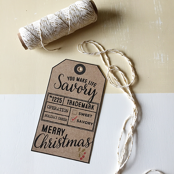 Savory Christmas Gifts + Free Printable Gift Tag + Trader Joe\'s ...