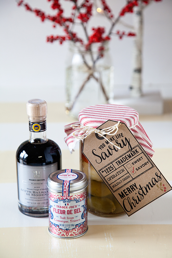 Savory Christmas Gifts + Free Printable Gift Tag + Trader Joe's ...