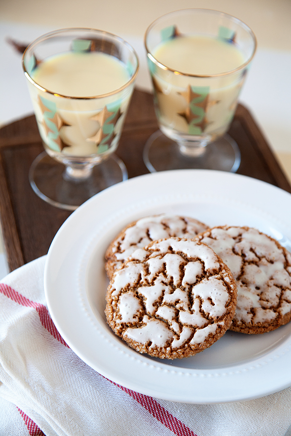 Spice Cookies with Holiday Nog Glaze Recipe