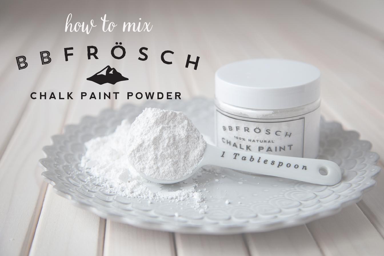 how to mix bb frösch chalk paint powder whipperberry