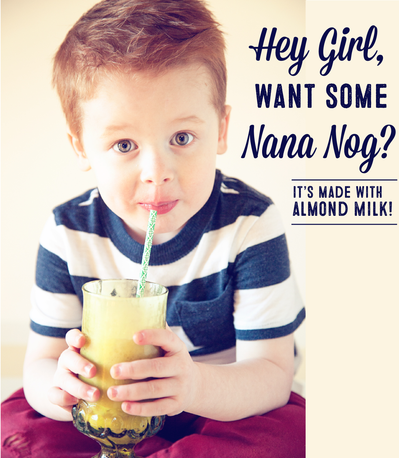 Nana Nog // Almond Banana Shake Recipe