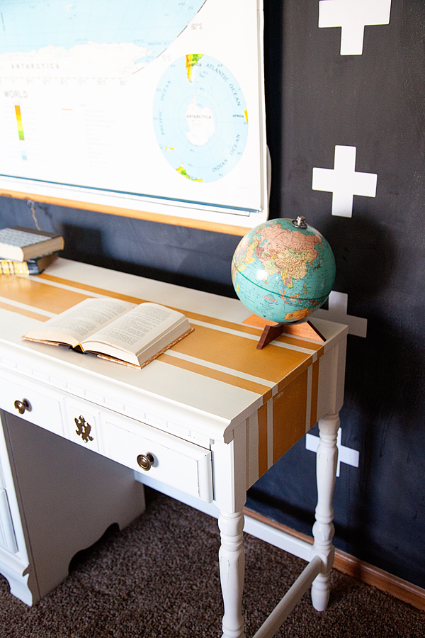 WhipperBerry-Mustard-Striped-Desk-with-BB-Frösch-Chalk-Paint-Powder-4