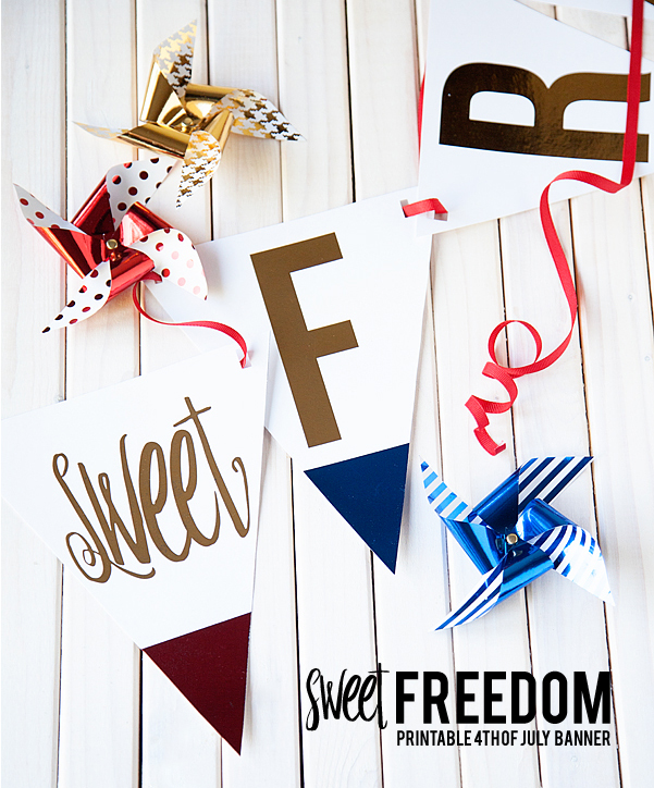 Sweet Freedom 4th of July Banners