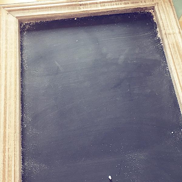 Season your chalkboard