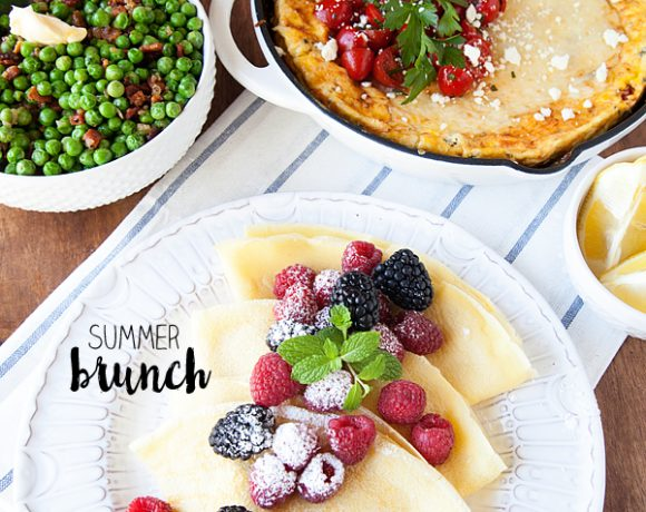 Summer Brunch Recipes // Peas with Bacon Side Dish