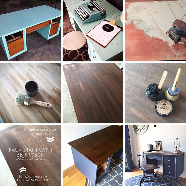 BB-Frösch-Faux-Stained-Mid-Century-Desk