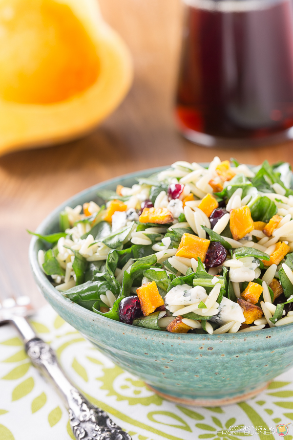 Fall Orzo Salad with Butternut Squash