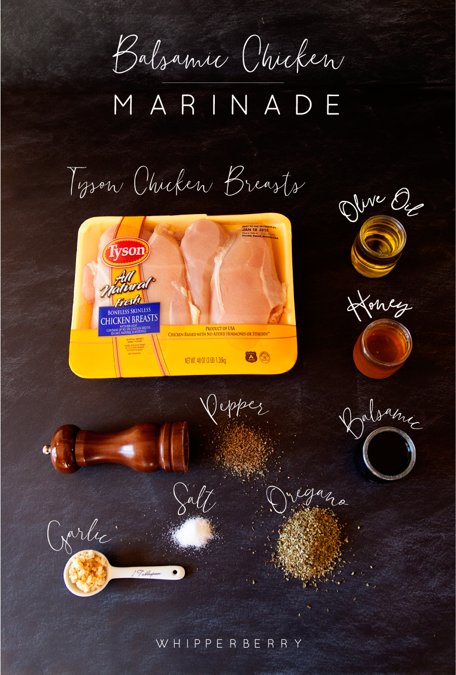 Ingredients for Balsamic Chicken Bites from WhipperBerry