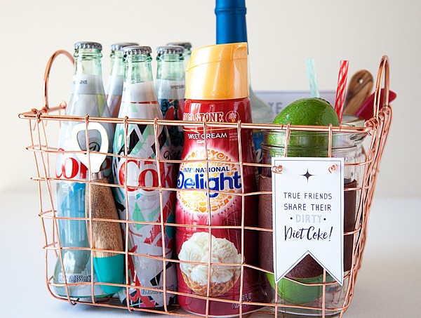 Dirty Diet Coke gift Basket from WhipperBerry