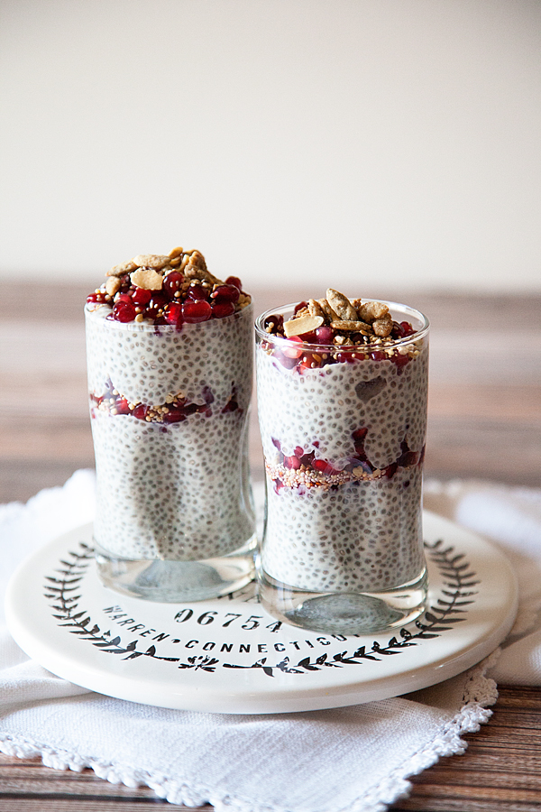 Pomegranate Chia Pudding Recipe // DAIRY-FREE