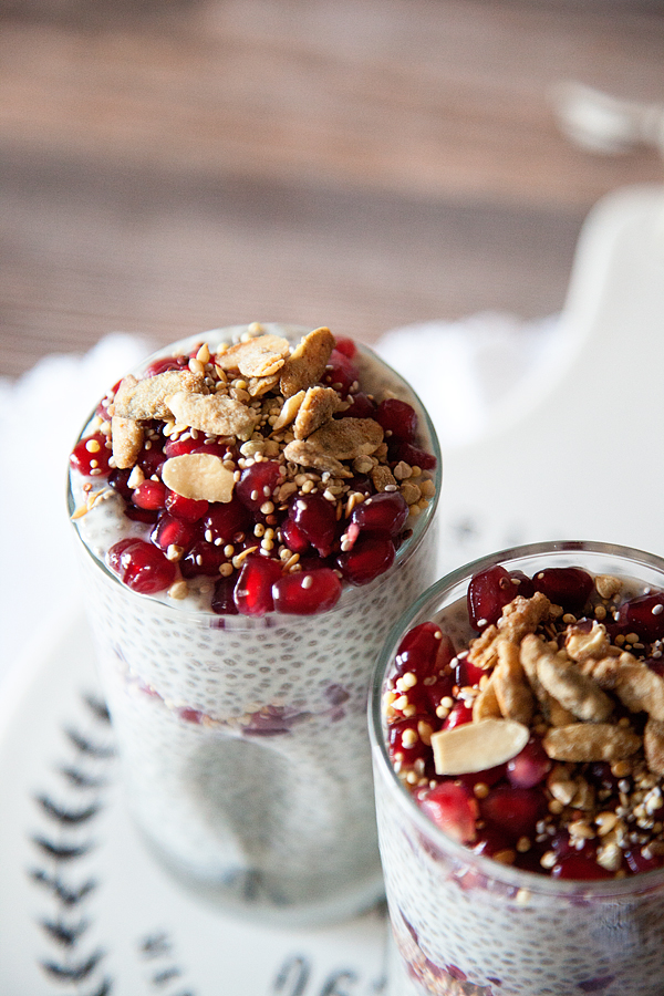 Dairy-Free Pomegranate Chia Pudding Recipe from WhipperBerry // This is a dairy free option, but it works well with dairy as well!