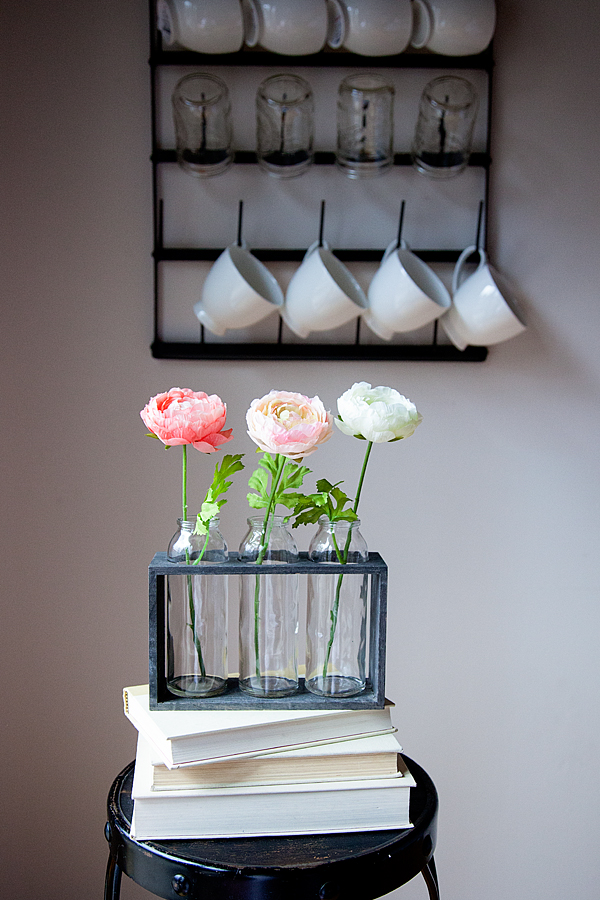 decorating the simple but beautiful ranunculus blooms from Michaels Flower Market
