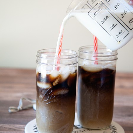 Hazelnut Iced Choffy Latte from WhipperBerry - Brewed Chocolate a coffee alternative.