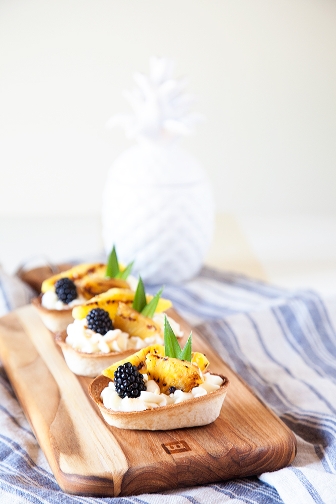 Grilled Pineapple Delight Boats - A tropical dessert from WhipperBerry