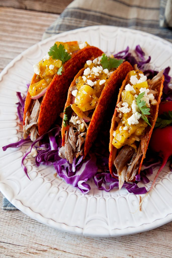Sweet and Spicy Slow Cooked Pork Tacos from WhipperBerry