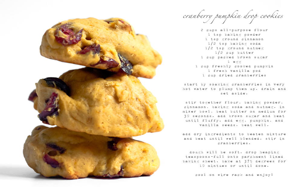Cranberry Pumpkin Cookies from WhipperBerry