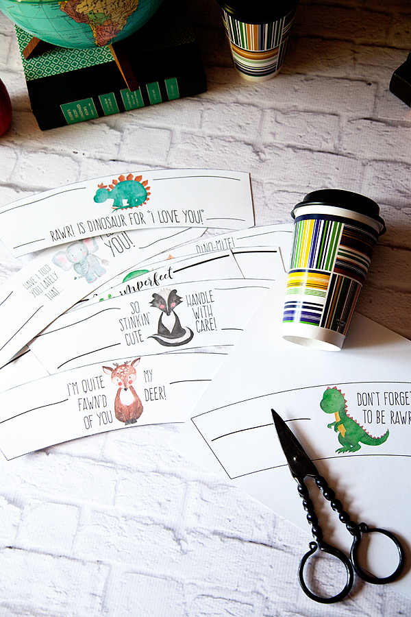 Free Printable drink notes created for @mychinet from WhipperBerry... A great way to send the kiddos off to school each morning! @AOL_Lifestyle #ad