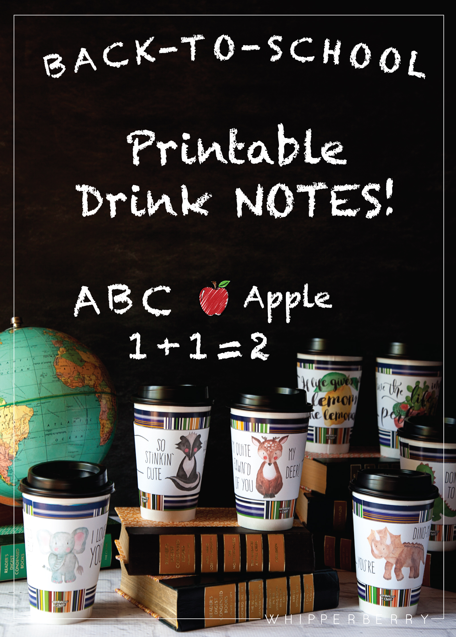 9 Great Printable Drink Notes for Back-To-School