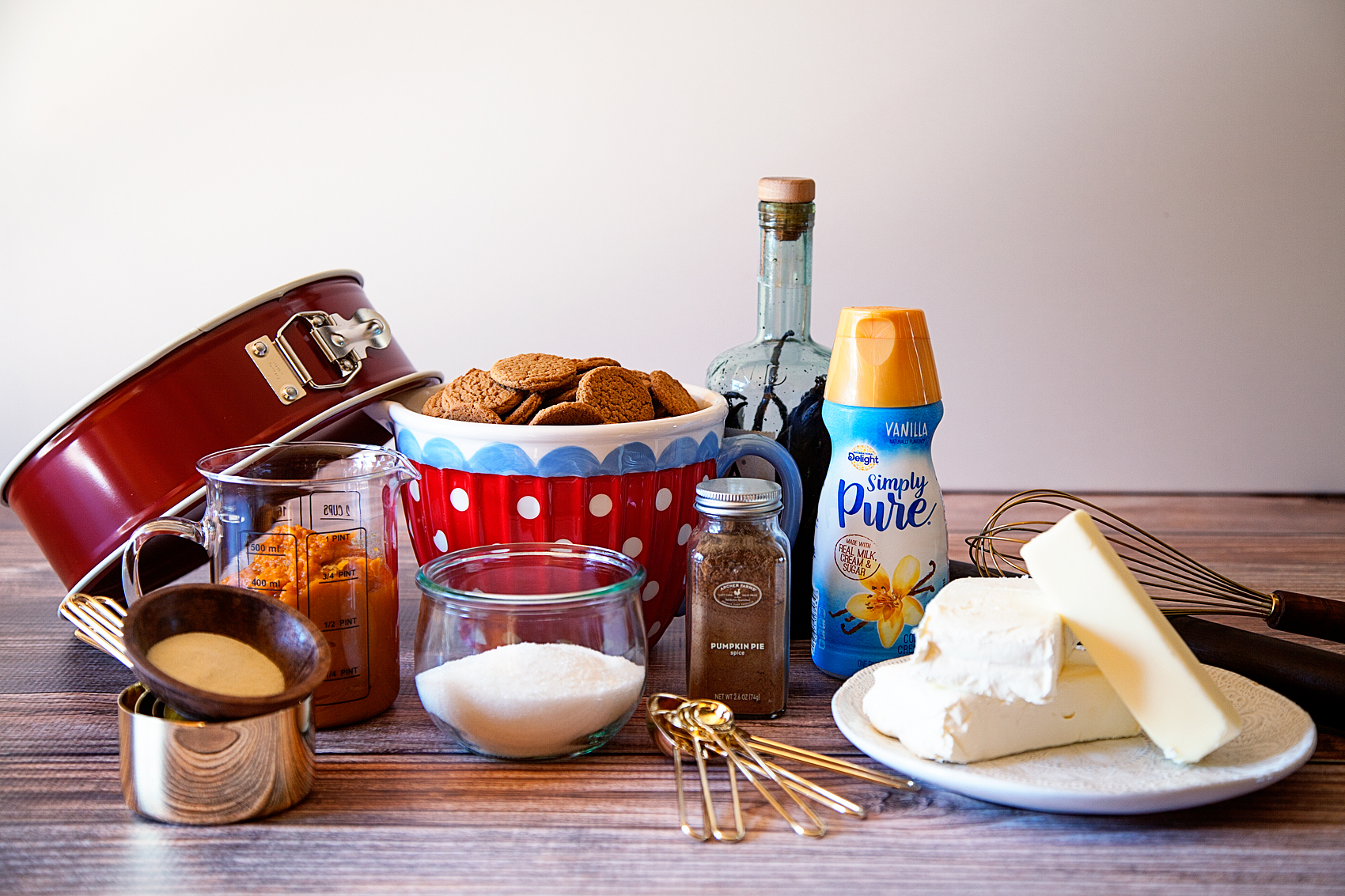 No-Bake Pumpkin Cheesecake with International Delights Simply Pure Vanilla