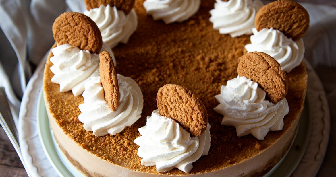 No-Bake Pumpkin Cheesecake with International Delights Simply Pure Vanilla