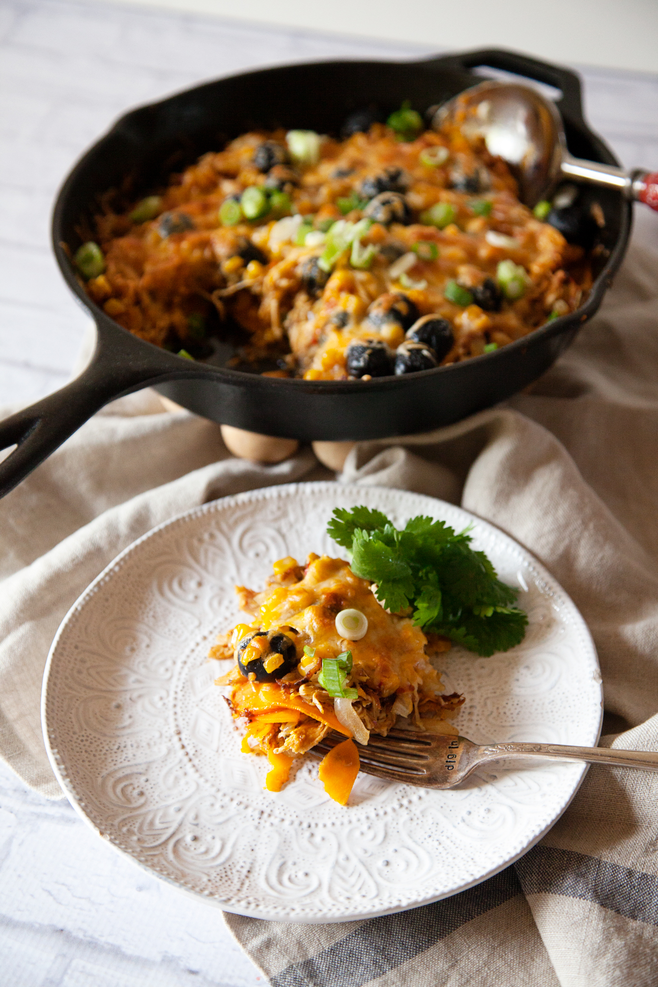 Easy weeknight meal - Chicken and Sweet Potato Skillet