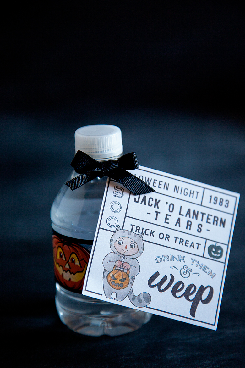 Free Printable for Halloween Water Bottles from WhipperBerry