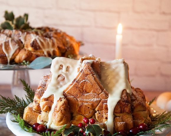Cinnamon Roll House Centerpiece