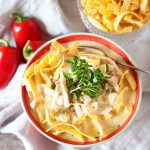 Simple Weeknight White Chicken Chili Recipe from WhipperBerry