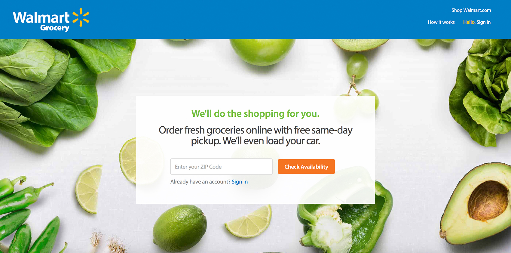 Walmart Grocery Website