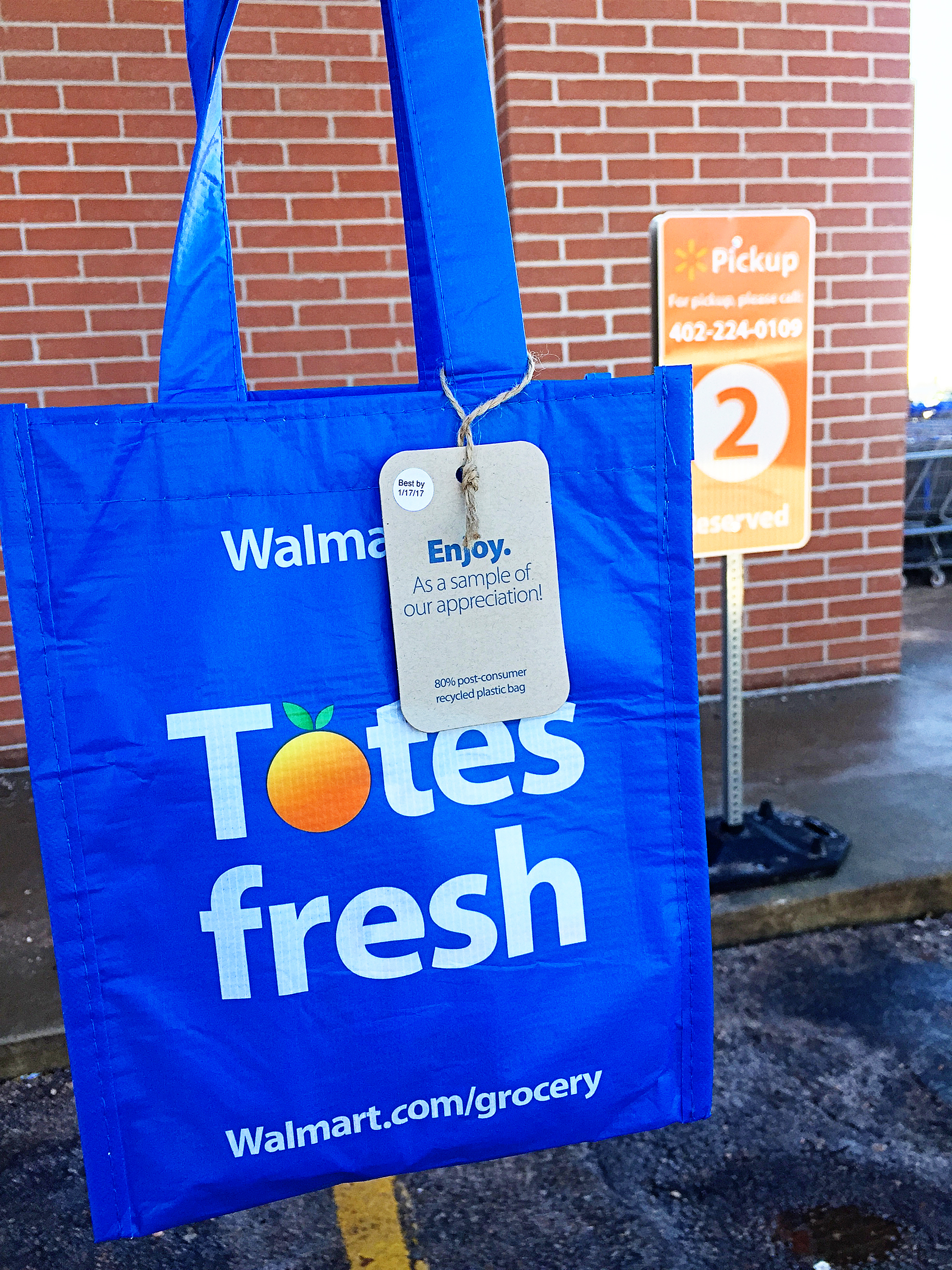 Walmart Grocery Welcome tote