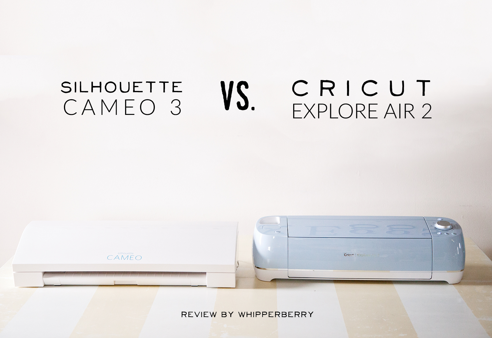 WhipperBerry explores once and for all, Cricut or Silhouette. Which is the best cutting machine on the market.