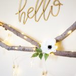 DIY Lighted Floral Swag from WhipperBerry