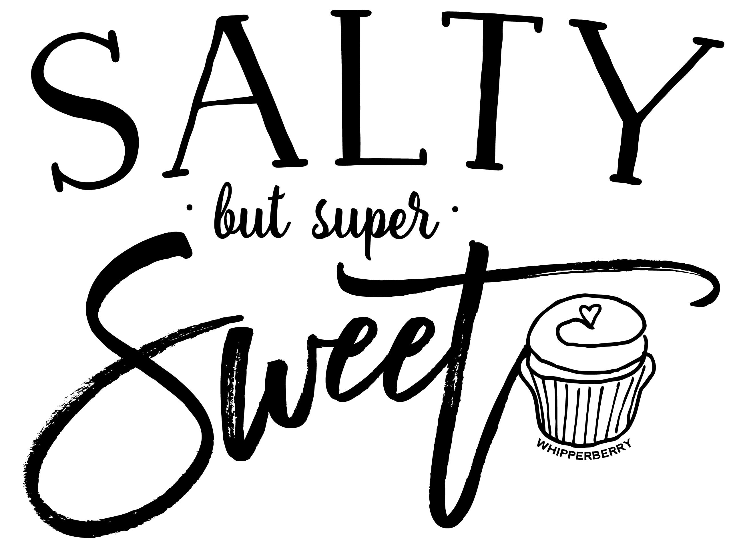 Salty by Super Sweet DIY T-Shirt by WhipperBerry
