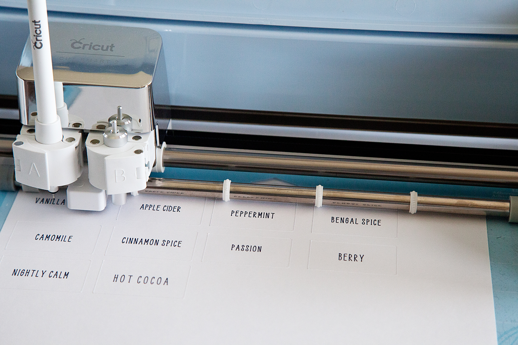 "Handwritten label by Cricut. Get that perfect look for your home weather it's; industrial labels, farmhouse labels or modern labels. You can achieve that perfect ""handwritten"" look even if you don't have great hand writing with the Cricut using your favorite handwritten fonts."
