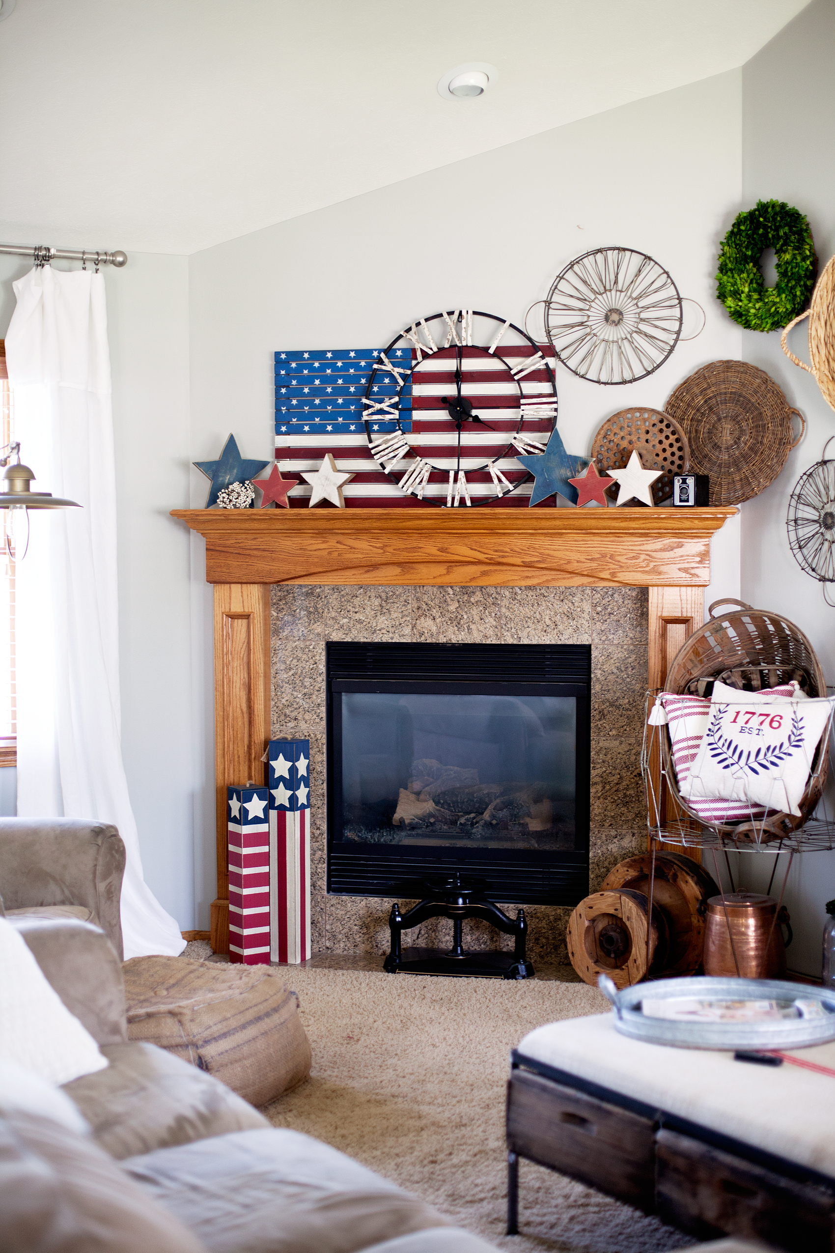 quick red white and blue home decor • whipperberry