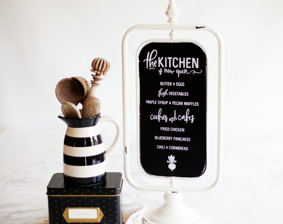 How to Apply Vinyl Tutorial + New Kitchen Sign Design