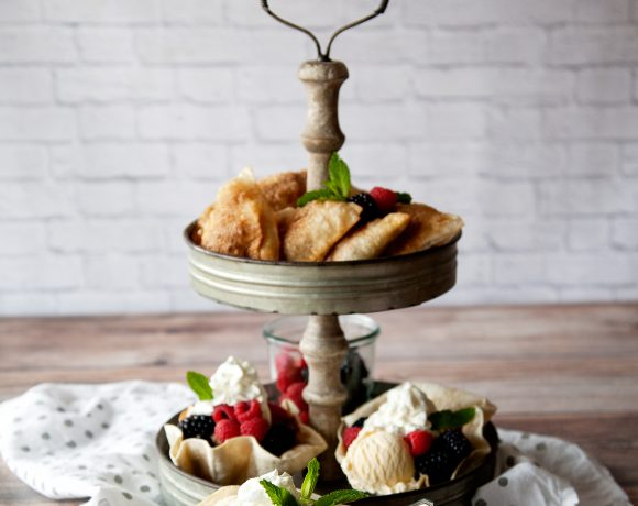 Tortilla Desserts Two Ways •Berry Hand Pies + Baked Tortilla Sundae Bowl