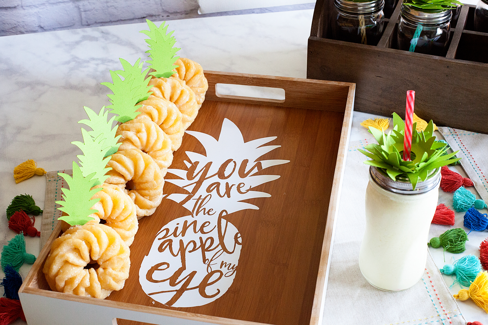 You are the Pineapple of my Eye tray created for a Pineapple Party • This Pineapple Party is perfect for all ages. Come on over to WhipperBerry to learn how to recreate this EASY party!