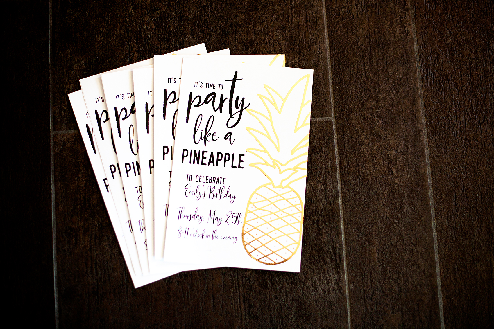 Pineapple Party Birthday Invitations • Who doesn't love a whimsical and tasty party? This Pineapple Party is perfect for all ages. Come on over to WhipperBerry to learn how to recreate this EASY party!