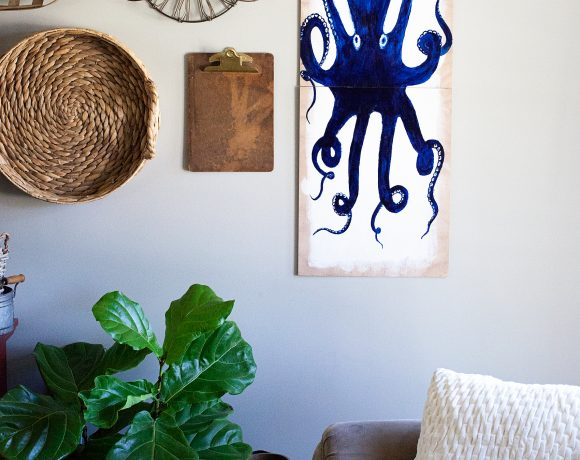 DIY Octopus Wall Art