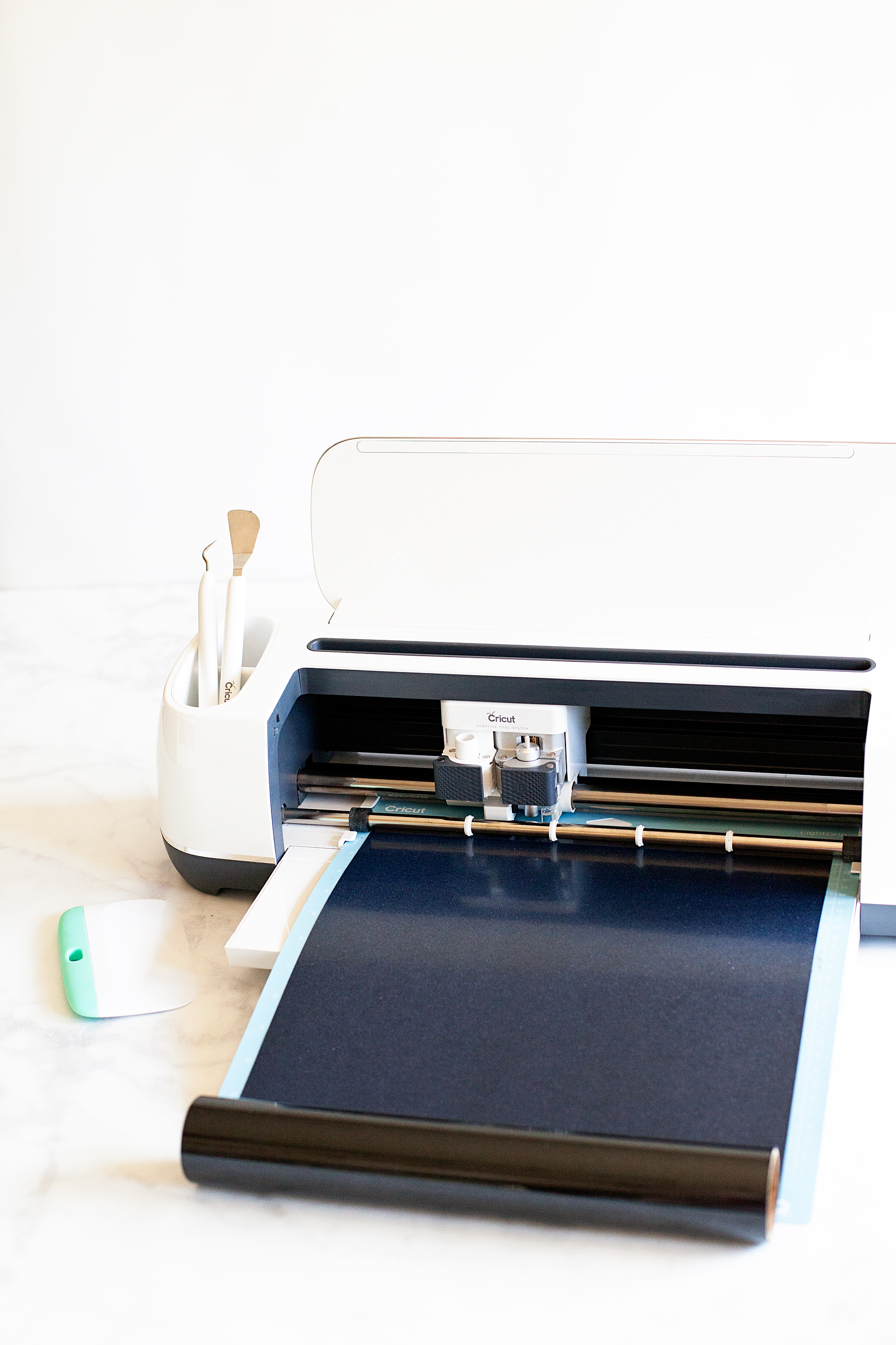 Learning how to cut iron on vinyl with the Cricut Maker via WhipperBerry