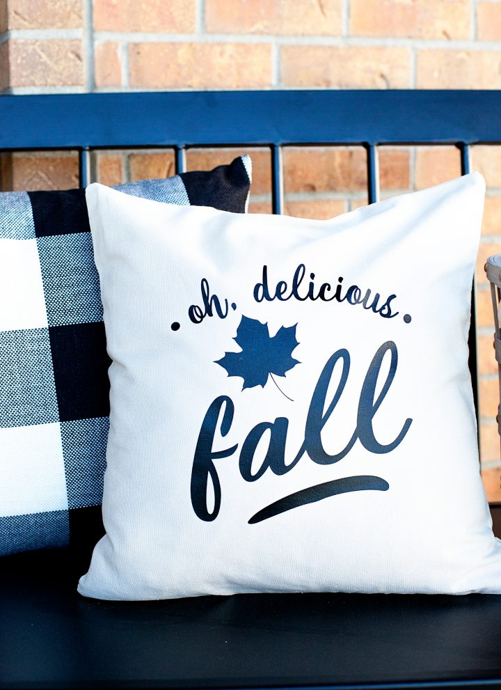 DIY Fall Throw Pillow • Oh, Delicious Fall