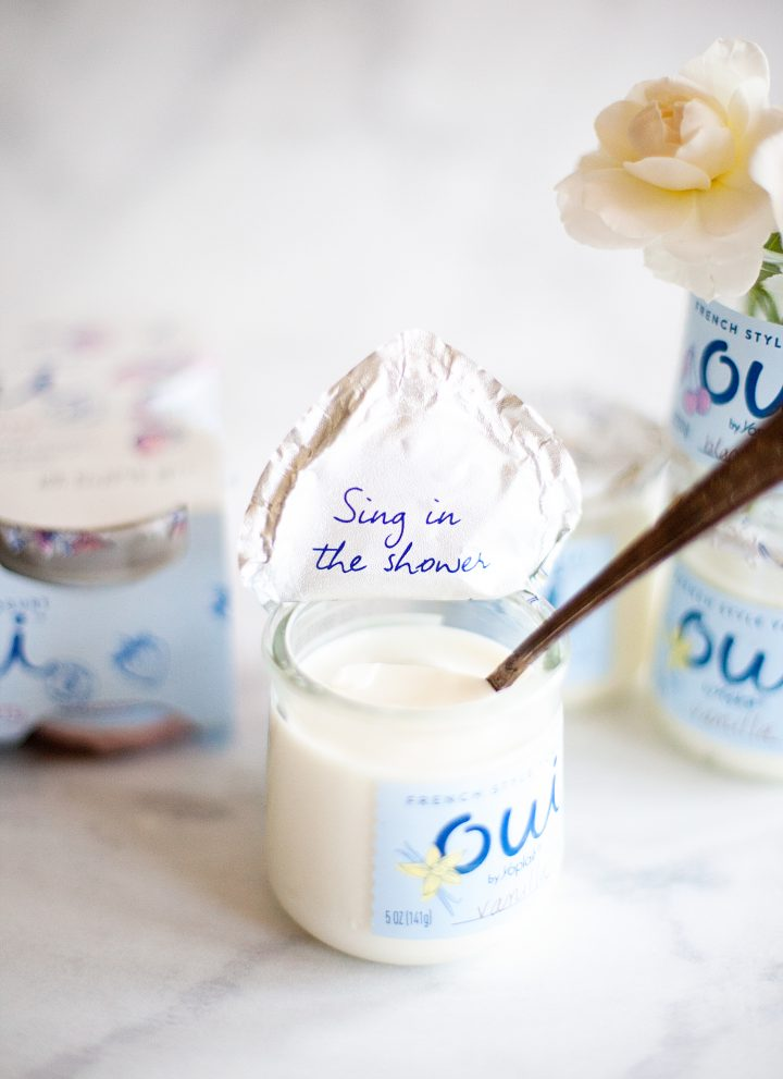 Let's Say Oui to ME Time •Oui by Yoplait