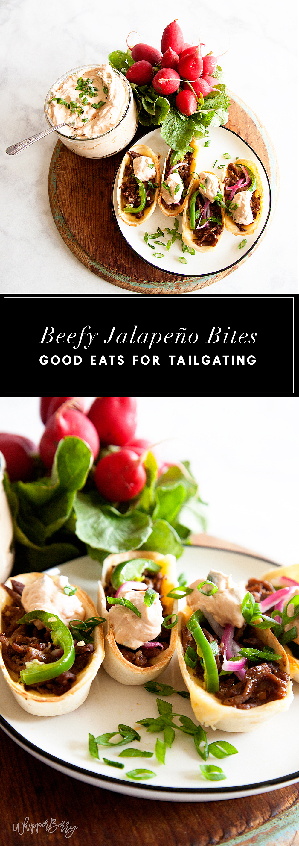 Kick up your game for GAME DAY! These Beefy Jalapeño Bites will win over even the most picky tailgater. Filled with Gouda cheese, Old El Paso seasoned beef and topped with scrumptious homemade pickled jalapeños… What's not to LOVE! Created by WhipperBerry