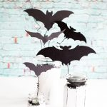 Chalky Finish Halloween Bat Jars •Have fun creating spooky Halloween decor with these Americana Decor Chalky Finish Ball Jars filled with creepy bats. Decorate your mantle or use them as a table centerpiece. Either way, they will add some stylish fun to your Halloween decoration game.