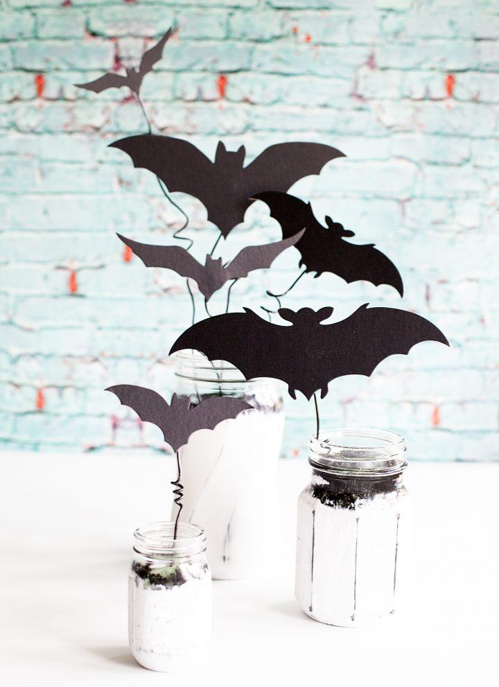 Halloween Bat Jars