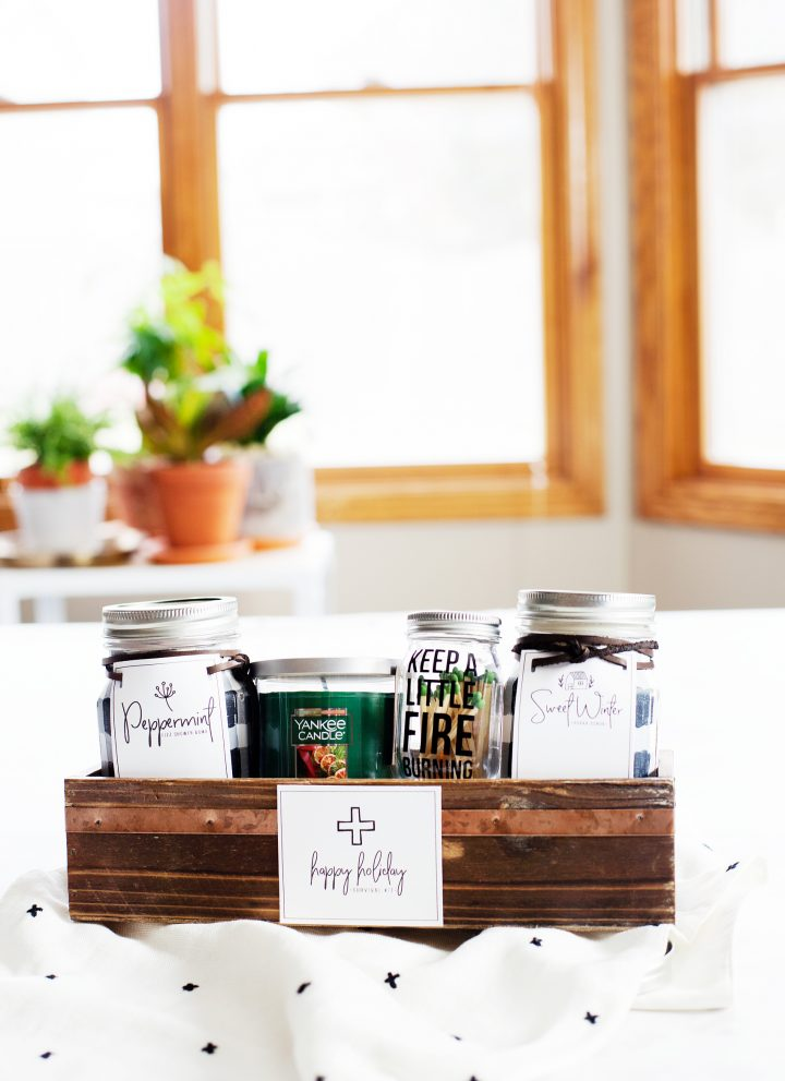 Spa Inspired Holiday Survival Kit with Buffalo Check Jars